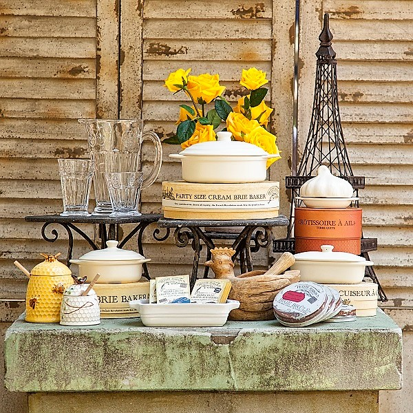 Pairs inspired cookware, bake ware, glassware and Laguiole flatware and cutlery